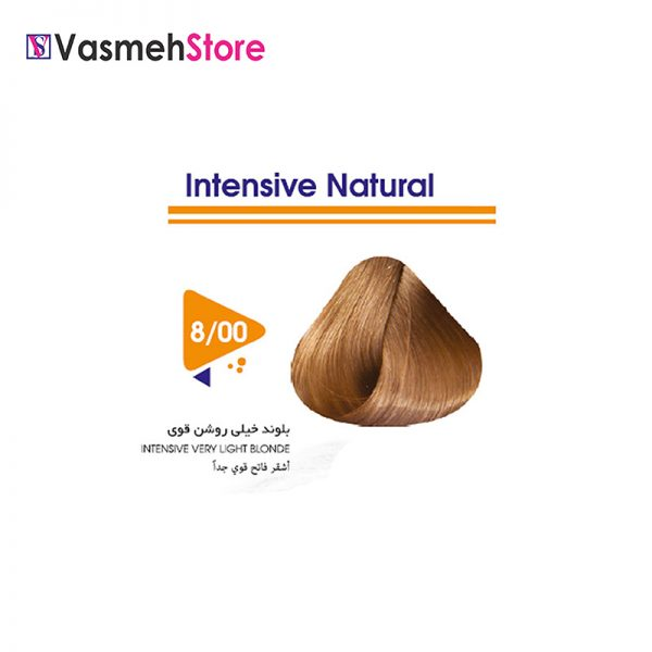 رنگ موی ویتامول شماره 00-8 بلوند خیلی روشن طبیعی قوی Vitamol