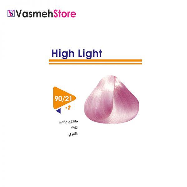 رنگ موی ویتامول شماره 21-90 فانتزی یاسی Vitamol