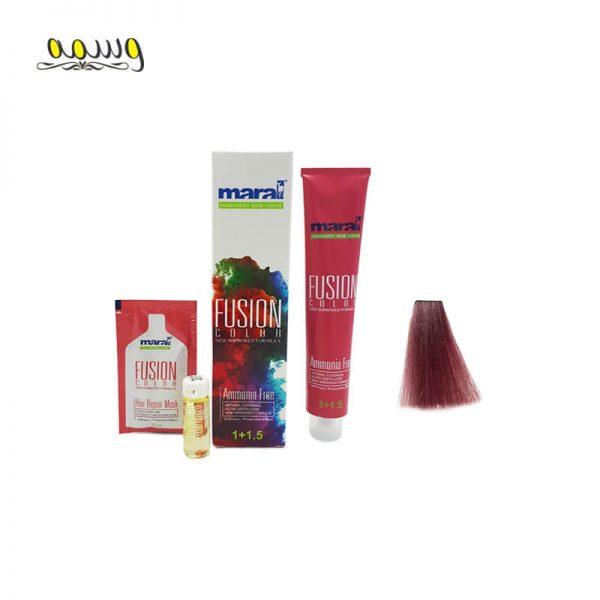 رنگ مو بدون آمونیاک فیوژن کالر مارال رنگ 5.991 (ارغوانی پاستل)